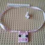 Mybricks little pig necklace