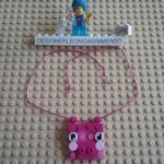 Mybricks pig mum necklace